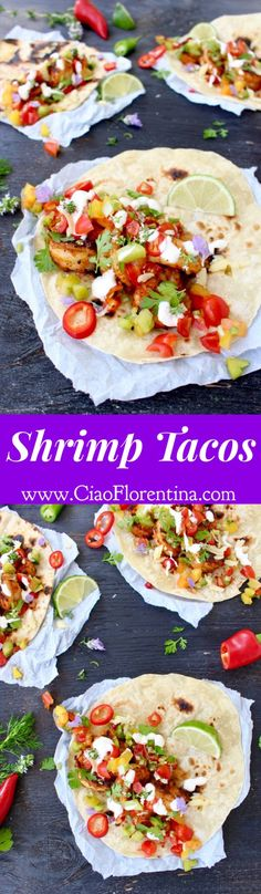 Shrimp Tacos Recipe | CiaoFlorentina.com @CiaoFlorentina