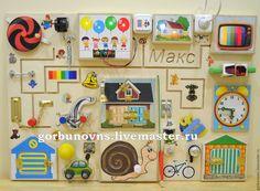 "Купить Бизиборд Развивающий Модуль Доска ""Легенда"" - комбинированный, бизиборд, развивающая доска, развивающий модуль Sensory Games, Activity Games, Toddler Activity Board, Toddler Activities, Baby Toys, Kids Toys, Busy Boards For Toddlers, Sensory Boards, Toddler Rooms"