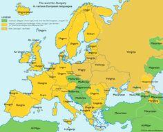 """Így mondják, hogy """"Magyarország"""" különböző európai nyelveken !!444!!!"""