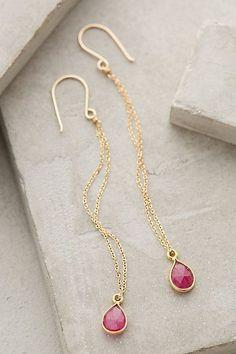 sweet long gold drop earrings