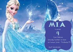 Frozen Queen Elsa Birthday Party Invitation by MiabbyDesigns on Etsy