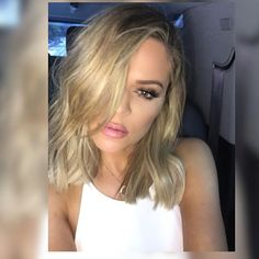 Just obsessing over Khloe's shorter (and blonder?) hair