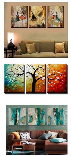 Extra large hand painted art paintings for home decoration. Large wall art, canvas painting for bedroom, dining room and living room, buy art online. 3 Piece Canvas Art, 3 Piece Painting, 3 Piece Wall Art, Hand Painting Art, Canvas Wall Art, Large Canvas, Abstract Art For Sale, Abstract Canvas Art, Abstract Paintings