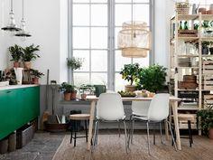 Med METOD köksskåp och FLÄDIE dörrar finns oändliga möjligheter att skapa ett grönskande kök.