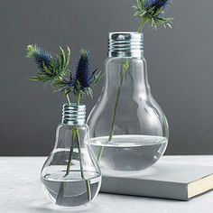 Saw these at Michael's! Perfect for my rooting ivy. Lightbulb Vase - gifts under £25 for her http://www.notonthehighstreet.com/home/top-100-less-ordinary-products-for-your-home