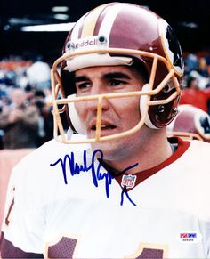 Mark Rypien Autographed 8x10 Photo Washington Redskins PSA/DNA #X09306
