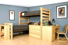 Image result for triple dorm room setup