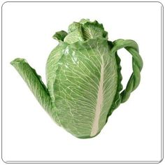 Sırlı Majolica Lahana Çaydanlık