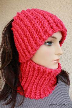 Ear Warmer Neck Warmer, Headband. Fast & Easy Crochet Pattern.