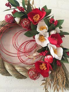 椿と千両のお正月飾り