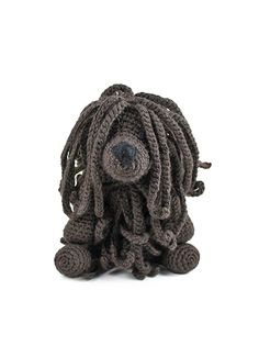 toft babel das puli amigurumi häkeltier - Knit and Crochet - Dogs Cute Crochet, Knit Crochet, Crochet Toys, Doodle Patterns, Crochet Patterns, Small Black Dog, Hungarian Puli, Puli Dog, Doodle Dog