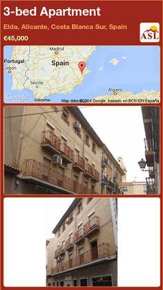 3-bed Apartment in Elda, Alicante, Costa Blanca Sur, Spain ►€45,000 #PropertyForSaleInSpain