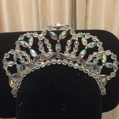 Ballet tiara with lots of ab rhinestone jewels other