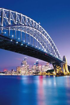 """Sydney Harbour Bridge, Australia:  Want to climb that """"curve"""".  Saw it on an episode of """"Little People, Big World""""."""