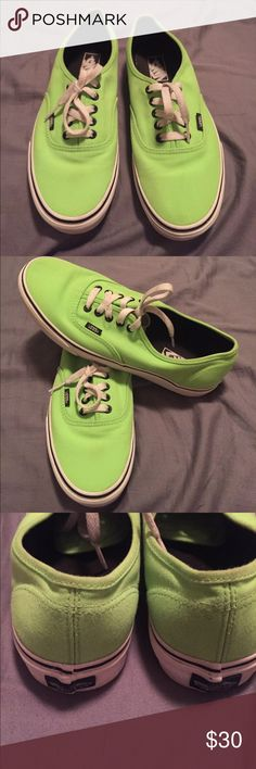 Lime green Vans Lime green vans. Men size 9. Women size 10.5. Only worn twice. Perfect condition!! MAKE ME AN OFFER! Vans Shoes Sneakers