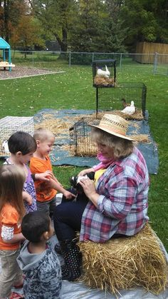 We bring our own petting zoo, including bunnies, ducks, roosters and hens! Check it out at davejeffersmagic.com