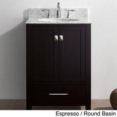 Virtu USA Caroline Avenue 24-inch Single-sink Bathroom Vanity Set
