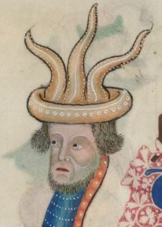 Detail from The Luttrell Psalter, British Library Add MS 42130 (medieval manuscript,1325-1340), f197v