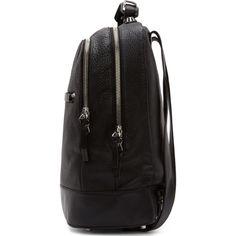 Mackage Black Pebbled Leather Croydon Backpack