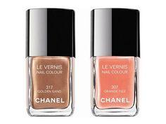Chanel's Le Vernis Nail Colour - Orange Fizz & Golden Sand
