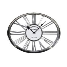 Heavy Chrome 'Grand Central' Skeleton Wall Clock