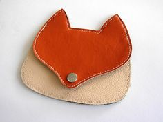 Fox pouch Cute Coin Purse, Leather Crafts, Coin Purses, Pouches, Pink, Bags, Etsy, Vintage, Ideas