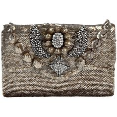 SHOUROUK Sequin clutch bag found on Polyvore