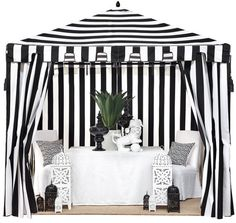 The Aestate: Outdoor Decor {Black & White Stripes}
