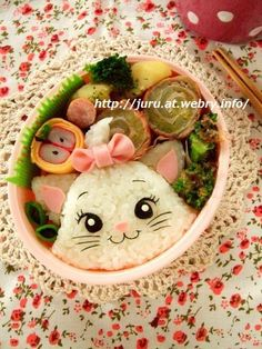 Disney Aristocrats in a Japanese bento box! #cute #Japanese #bento #可愛い #猫 #弁当
