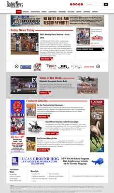 The Rodeo News Website Design and Development