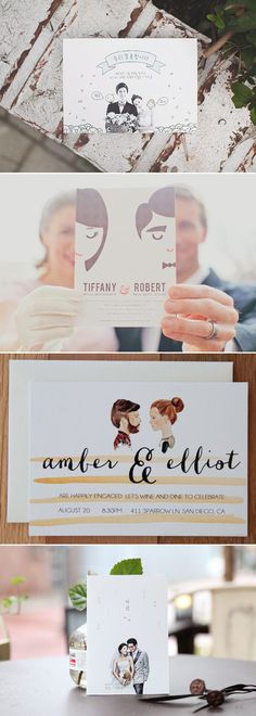 Simple is Beautiful! 30 Creative Invitation Ideas for Minimalist Couples!                                                                                                                                                     More