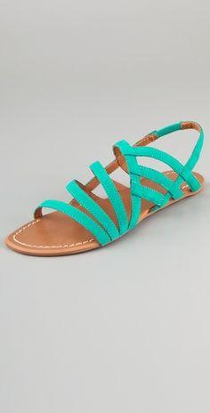 Joel's jeans Tina strappy suede Sandals $90 shopbop.com