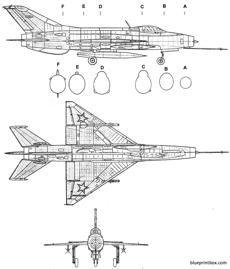 caza Sovietico mikoyan gourevitch mig 21f fishbed