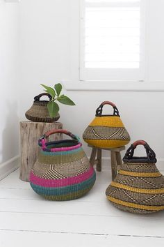 The perfect fusion of style and function, we introduce our new collection of Gambibgo Pot Baskets. Designed with striking, bold patterns and a distinctive bulb