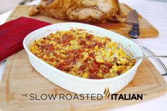 Corn and Bacon Casserole: Preheat oven to 350°. Mix all together and cook for 20-25 min    6 bacon strips  1/2 cup chopped onion  2 tablespoons all-purpose flour  2 garlic cloves, minced  1/2 teaspoon salt  1/2 teaspoon pepper  1 cup (8 ounces) sour cream  3-1/2 cups frozen whole kernel corn  1 tablespoon chopped fresh parsley