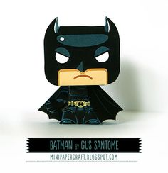 Batman Mini Papercraft by Gus Santome Mini Batman, Batman Free, Batman Party, Batman Birthday, Superhero Birthday Party, Lego Batman, 3d Paper Crafts, Paper Toys, Paper Crafting