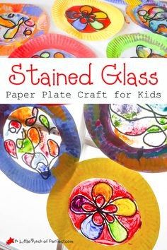 Beautiful Stained Glass Paper Plate Craft for Kids | A Little Pinch of Perfect