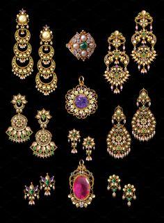 Pear Jewelry by Kailash Kumar on Rajputi Jewellery, Pearl Jewelry, Diamond Earrings, Fashion Beauty, Gems, Brooch, Stock Photos, Artificial Intelligence, Pearls
