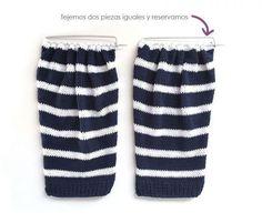 Chaqueta de punto marinera DIY - Tutorial y patrón Knit Vest, Wicca, Baby Knitting, Pullover, Patterns, Fashion, Knitting Machine, How To Knit, Vestidos