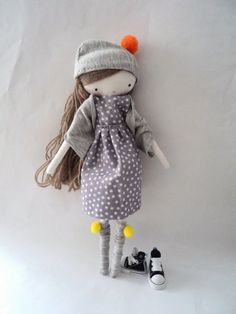 Cute handmade doll...  want to make this for my little lady!