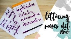 Lettering: Meses del año - Tutorial - Bullet journal - UGDT