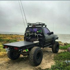 Toyota 3rd gen. Good looking simple rig built for surf fishing in the baja