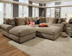 oversized sectional | ... Gallery of the Avoiding Overstuff Room Using Oversized Sectional Sofas