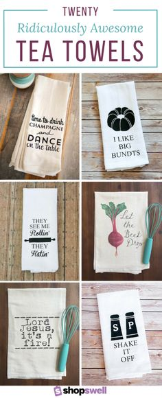 "The kitchen isn't just for cooking, it's for dancing. If you like to ""chop it like it's hot"" you need at least one (or 5!) of these ridiculously awesome tea towels."
