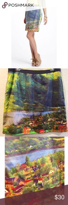 """Anthropologie River School skirt Such a fun skirt for fall! Side pockets, side zipper. 100% cotton with polyester lining. Length is approx 19.25"""". This skirt is in excellent condition. Anthropologie Skirts Pencil"""