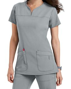 Grey's Anatomy Signature Notch Neck 2 Pocket Scrub Tops | Scrubs & Beyond
