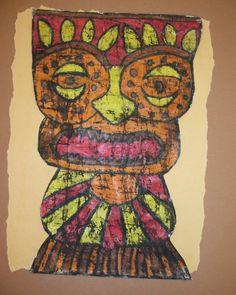 BaTIKI Totems  http://www.schoolartsdigital.com/i/146340