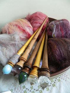 Ravelry: Beauty And The Beast Spinning Wool, Hand Spinning, Spinning Wheels, Purple Heart Wood, Renewable Energy, Solar Energy, Solar Power, Drop Spindle, Knitting Needles