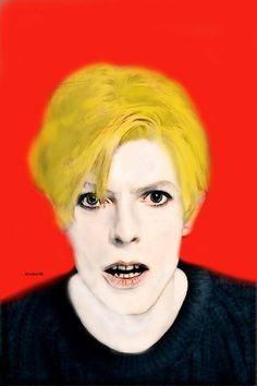 Original Pop Culture/Celebrity Painting by Acqua Luna David Bowie, Acrylic Spray Paint, Spray Paint On Canvas, Pencil Painting, Gouache Painting, Original Paintings, Original Art, Arte Pop, Buy Art