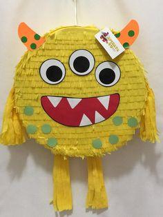 Halloween Party Favors, Halloween Games, Halloween Pumpkins, Pinata Halloween, Girl 2nd Birthday, First Birthday Parties, First Birthdays, Monster Pinata, Monster Party